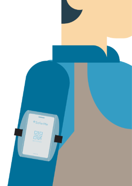 Armband card with person copy