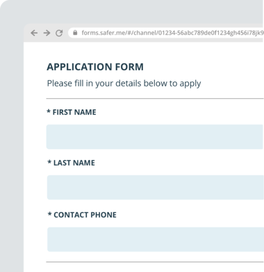 WEB FORM - APPLICATION FORM